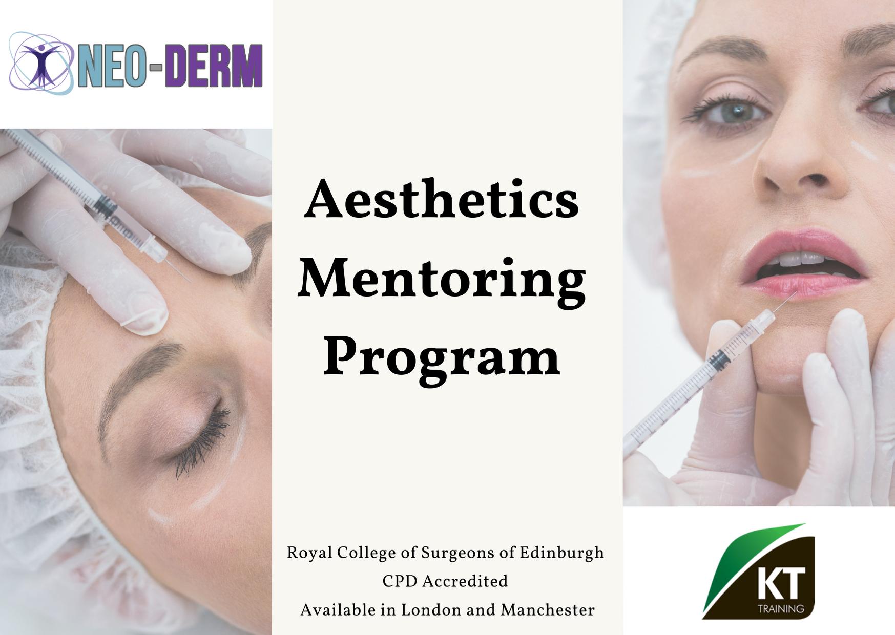 medical aesthetic mentoring